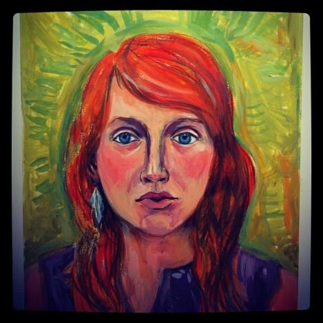 Acrylic Self Portrait (2012)