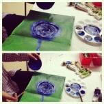 Jae Yeon painting water