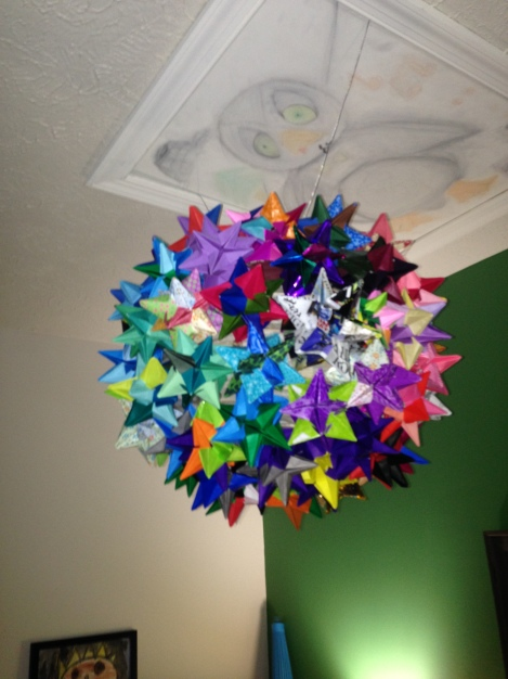 Origami Star Lantern made by Zach B, class of 2015